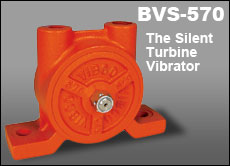 vibco bvs-570 silent turbine vibrator for feed mills